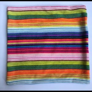 CB2 multi colored striped accent pillow case 18x18